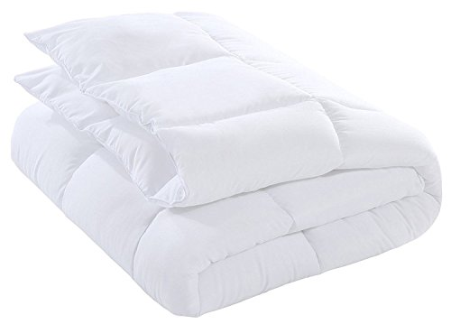 Down Alternative Comforter Duvet Plush Microfiber Fill Duvet Insert, Lightweight for All Season, Premium Hotel Quality - Machine Washable by The Duck and Goose Co - King