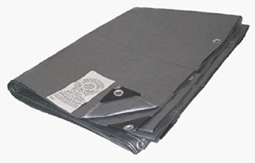 6' x 10' Silver FIRE/Flame Retardant Heavy Duty Poly TARP (Finished Size Approx. 5'6