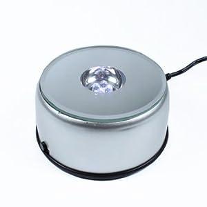 GONDGET Rectangle 3D Crystal with LED Base Light (3x7x10 cm, White)