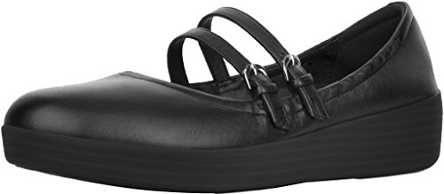 FitFlop Damen Superbendy Ballerinas Loafer Flat Schwarz 1