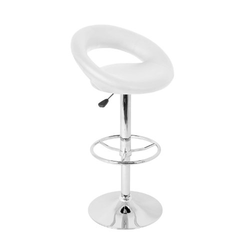 LumiSource Posh Barstool, White