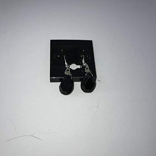 natural dumortierite gemstone faceted teardrop sterling silver earrings