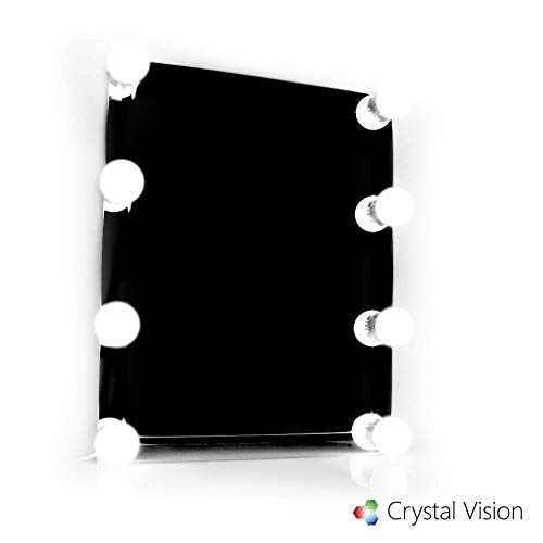 - Crystal Vision LUXI Vanity Makeup Mirror Light Kit - Hollywood Style Natural White LED (8 Bulb)