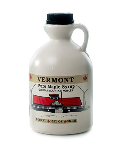 Georgia Mountain Maples of Vermont, Organic Maple Syrup, Amber Color Rich Taste, 32 Ounce