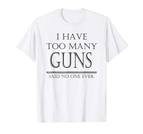 Gun Lover and Firearm, Rifle, and Pistol Collector Tee