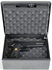 This box offers the same great strength of the large Fort Knox Safes. Your handguns will stay protected using this heavy duty pistol box.