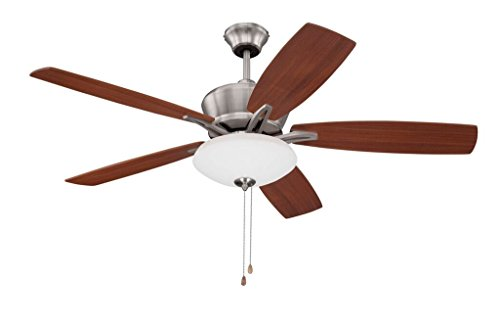 "Litex E-KA52BNK5C Kala 52"" Brushed Nickel Ceiling Fan with F"