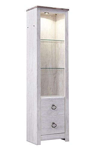 Price comparison product image Signature Design Willowton Whitewash Wood Tall Pier by Ashley
