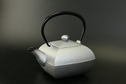 "Japanese iron tea pot ""Nambu-Tekki"" Silver"