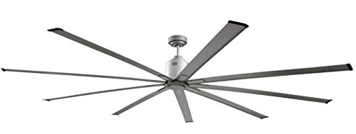 (Big Air 96 Inch Industrial Ceiling Fan | Indoor/Outdoor | 6 Speed w/Remote, 14000 CFM, Reversible | | For Commercial or Residential Use | 96