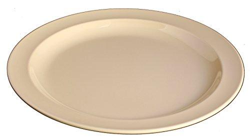 (Z-Moments Western Melamine 108 8-inch Round Dinner Plate, TAN, 48-pc per case (4 dozen) NSF)