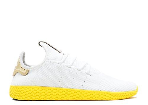 Adidas Pharrell Williams Tennis Hu (primeknit) Bianco, Giallo-oro
