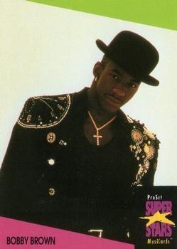 Singer Signed Autograph Card (Bobby Brown trading card (R&B Singer, Musician) 1991 Proset Super Stars Musicards UK #12)
