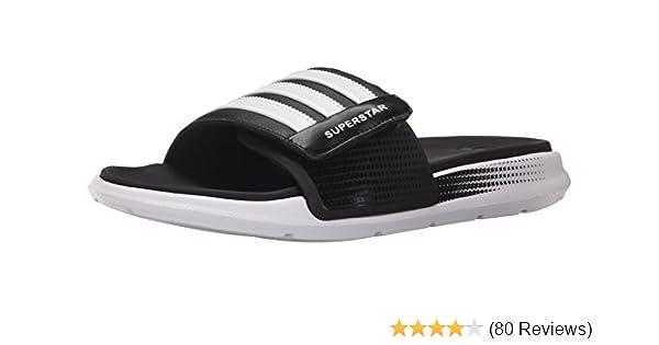 3222c546 Amazon.com   adidas Performance Men's Superstar 4G M Sandal, Black/White/ Black, 9 M US   Sandals