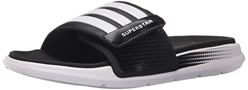 adidas Performance Men's Superstar 4G M Sandal,Black/White/Black,10 M US