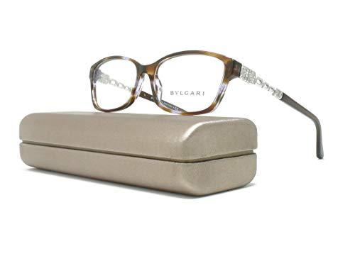 Bvlgari Women's BV4061B Eyeglasses Variegated Violet/Brown 52mm