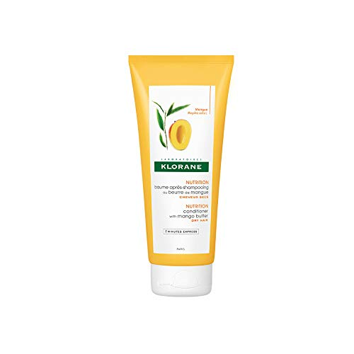 Klorane Nourishing Conditioner with Mango Butter, Moisturize and Hydrate Dry Hair, Paraben, Silicone, Sulfate Free, 6.7 oz.