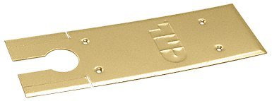 C.R. LAURENCE CRL85CPPB CRL Polished Brass Cover Plates for 8500 Series Floor Mounted Closer