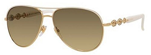 Gucci Sunglasses - 4239 N / Frame: Ivory Gold Lens: Brown - 4239 S Gucci Sunglasses