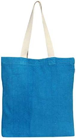 Eono Bolsos Tote Para Mujer, Bolsas de la compra Reutilizables, Algodón reciclado Bolsas de Supermercado, Regalo Tote Bag, Bolsa de Playa, Bolsa de Hombro, Bolsa de Libros | Azul | 0415: Amazon.es: