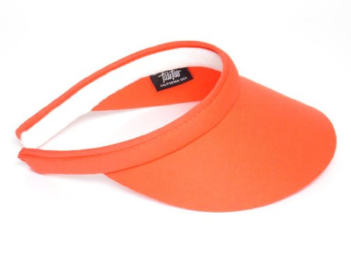 Take Two Women's Clip On Brim Visor One Size tangerine