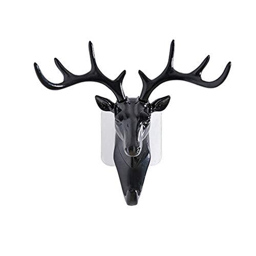 (keebgyy Antlers Shape Wall Hooks, Creative Animal Shaped Vintage Rustic American Style Modern Wall Decoration, for Keys Coats Jewellery Towels)