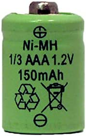 1/3 AAA 150 mAh Button Top NiMH Battery (for Solar Lights) (2)