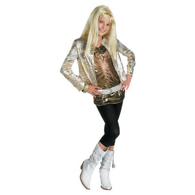 Hanna Montana Gold Outfit Halloween Costume - Child Size (Hannah Montana Halloween Costumes)