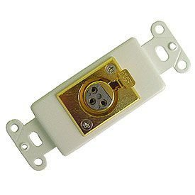 Calrad Electronics 28-119 Single Gold Plated XLR Female Decora-Style Jack Insert - White ()