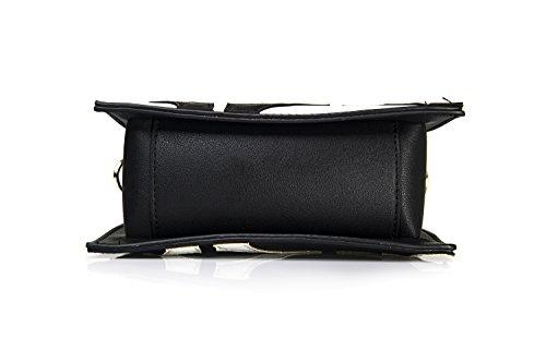 bolso bolso bolso doble de cara Blanco de cuadrado uso embrague de mujeres forma Shitao de ST1704 en hombro original vfHxwO6qS