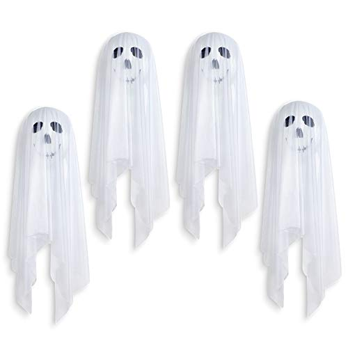 Tao-Ge Halloween Balloons Decoration White Ghost Balloons Latex
