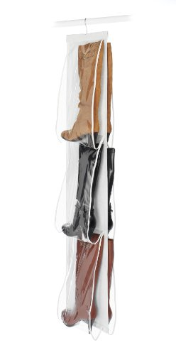 Whitmor Hanging Boot File - Hanging Storage for Men's and Woman's Boots - 3 Pair