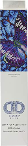 Needleart World Flutter by Mauve Diamond Embroidery Kit, Multicolor