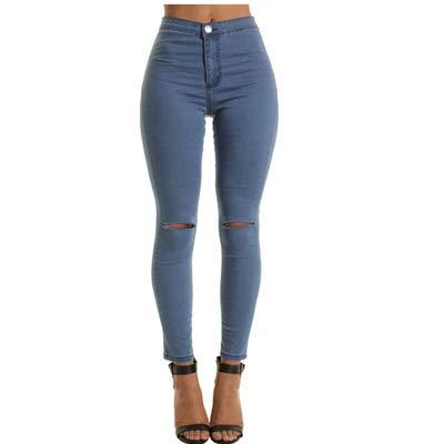6912e3855f1d4 Amazon.com: Autumn Water Fashion High Waist Skinny Pants Women Jeans ...