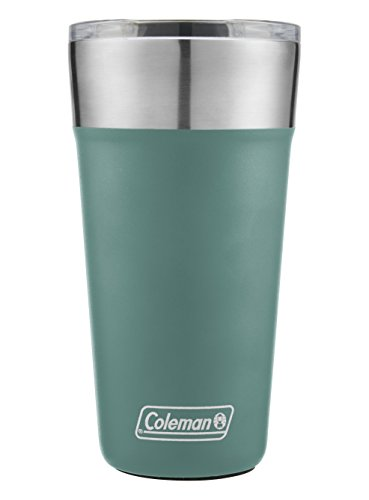 (Coleman Brew Insulated Stainless Steel Tumbler, Seafoam, 20)