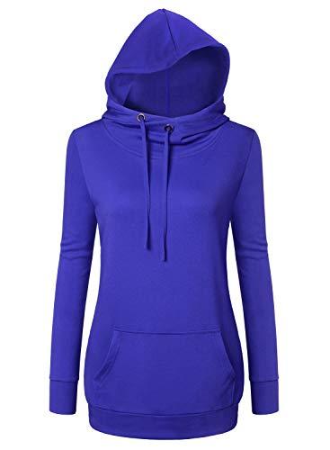 cowl neck hoodie woman - 4
