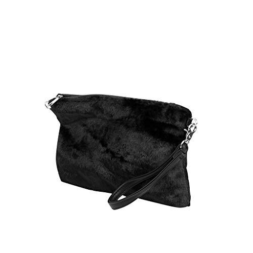 Fiestas Piel Bodas Para Envelope Muy Y Idea Bandolera De Borse Vendimia Crossbody Sintética Moderno Negro Angkorly Clutches Mujer Regalo retro Elegante Flexible Mini Moda Tote Bag Bcbg Suave T8UqvRx
