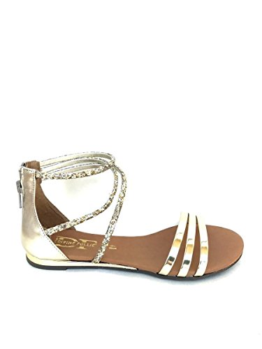 Divine Follie - Sandalias de vestir de Piel para mujer dorado