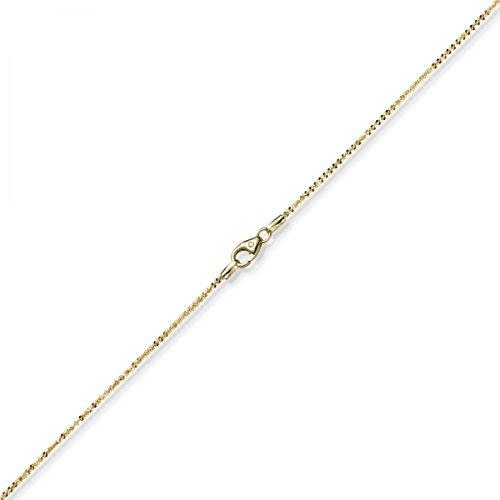 1,5mm à croisillons de chaîne collier bijou collier en or jaune 58540cm
