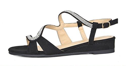PAIRS Women's 1 black Formosa DREAM Sandal Wedge 1 UqdSnw75