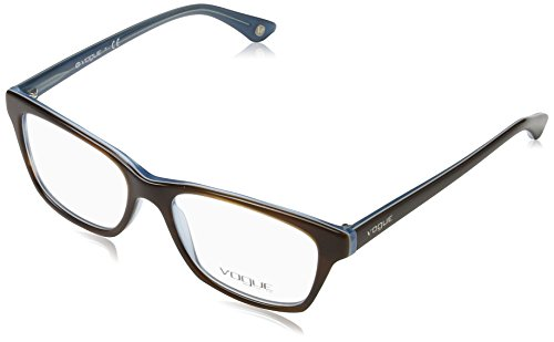 Vogue VO2714 Eyeglass Frames 2014-5216 - Top Striped Brown/Azure Frame, Demo Lens VO2714-2014-52