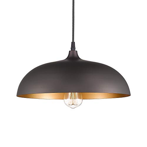 - Emliviar Farmhouse Pendant Light Fixture, 1-Light Industrial Hanging Light with 14