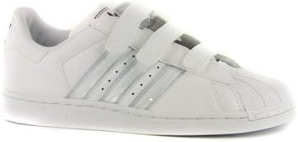sexo alquitrán soborno  Womens Adidas Superstar White Leather Strap Trainers UK 6.5: Amazon.co.uk:  Shoes & Bags