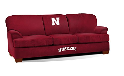 Imperial Officially Licensed NCAA Furniture: First Team Microfiber Sofa/Couch, Nebraska Cornhuskers