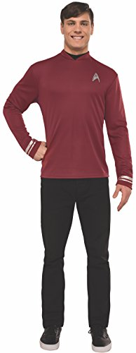 Shirt Deluxe Costumes (Rubie's Men's Star Trek: Beyond Scotty Deluxe Costume Shirt, Red, X-Large)