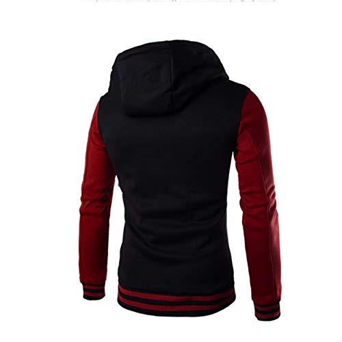 Rouge Chandail Sleeve Full Sweat Outwear Fit D'hiver À Manteau Slim Garçon Bellelove Hommes Capuche Chaud Homme Veste nHCxwawqz