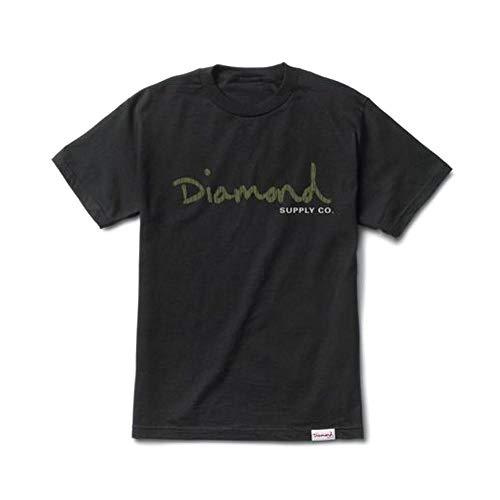 Diamond Supply Co OG Script T-Shirt Black Green by Diamond Supply Co