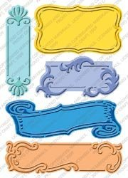 Cuttlebug Provo Craft Plus Embossing Folders, Fanciful Labels