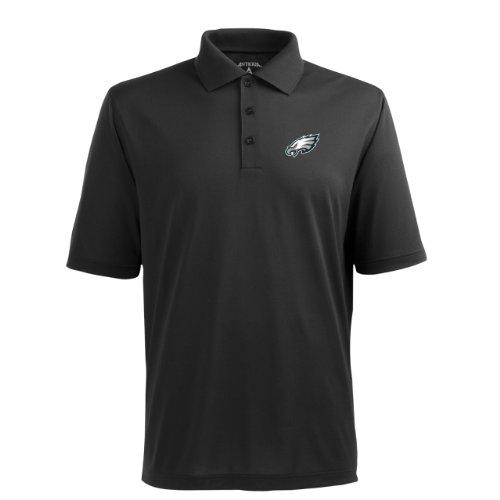 - NFL Men's Philadelphia Eagles Pique Xtra Lite Desert Dry Polo Shirt (Black, XX-Large)