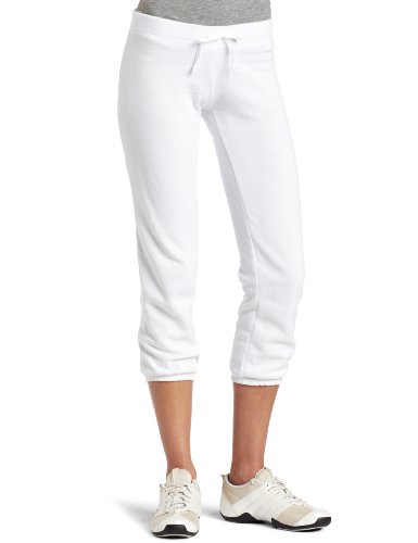 White Cotton Capris - 1